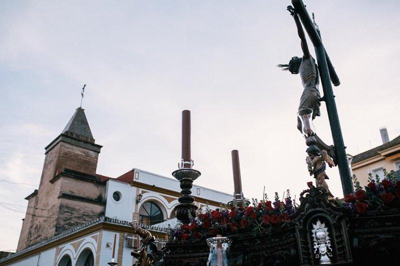 Cristo De la Vera+Cruz, de la Hermandad Sacramental de Gines. Foto: Hdad. Sacramental Gines.
