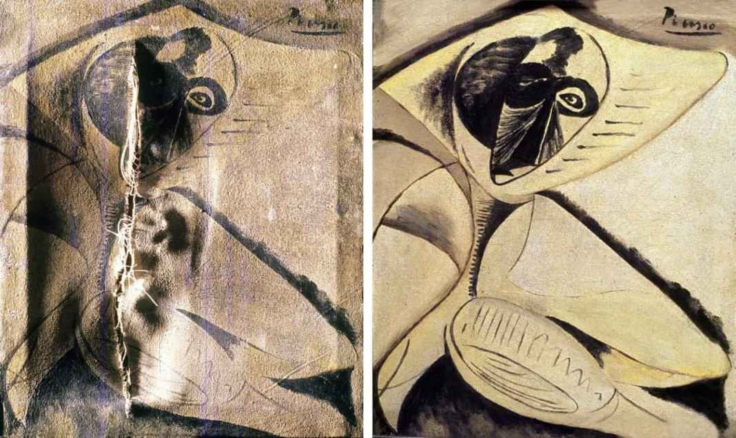Obra del pintor Pablo Picasso restaurado por Francisco Arquillo