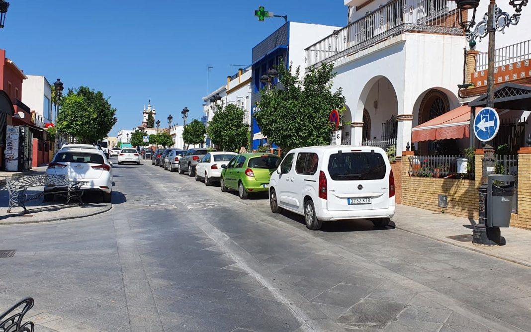 Situación actual de la calle Leal Castaño de Espartinas.