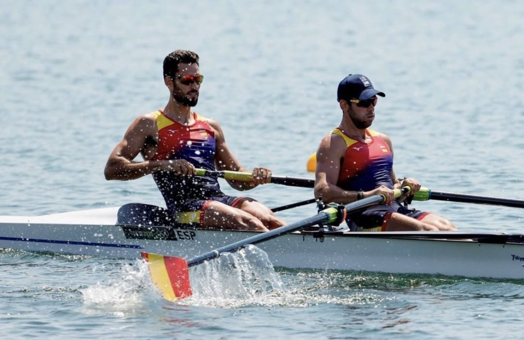 Javier García y Jaime Canalejo en los Juegos Olímpicos de Tokio 2020.