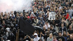 Image result for French opposition leader tells Labour law protesters