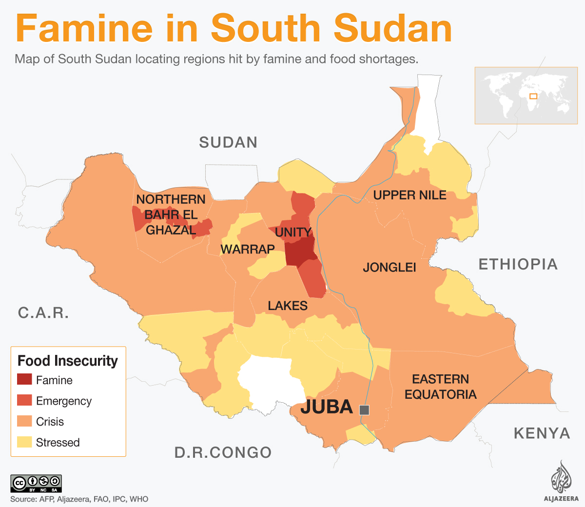 Current World Map Of Famine