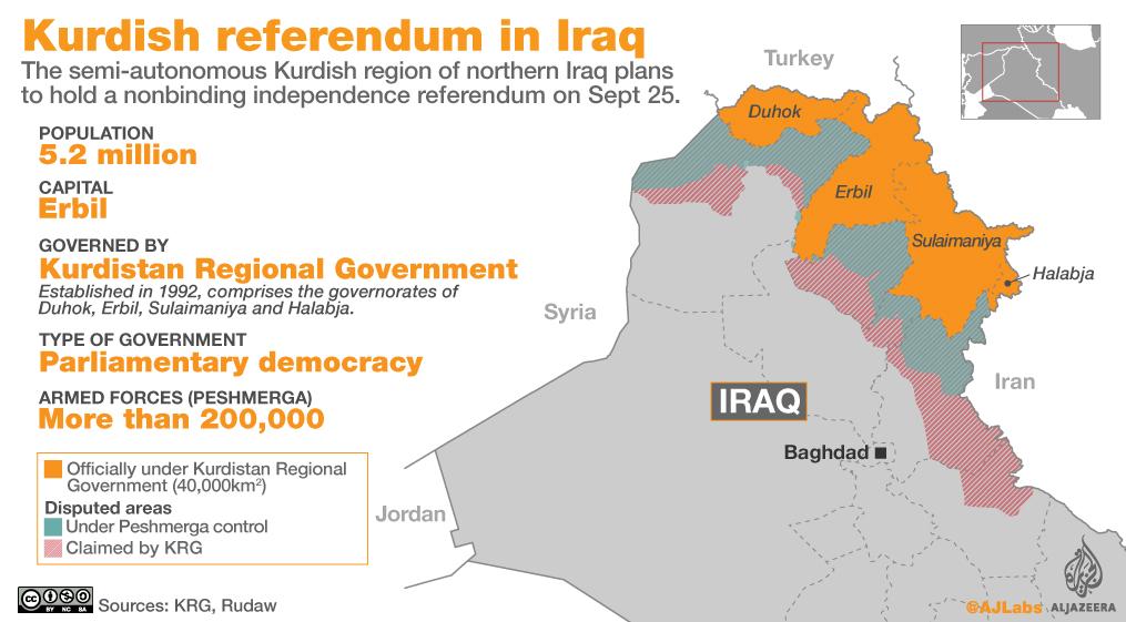 mappa referendum kurdistan