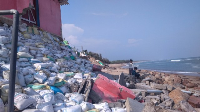 The sea is swallowing homes in east India -