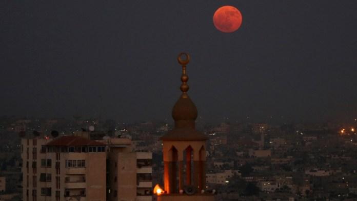 Full moon in Gaza