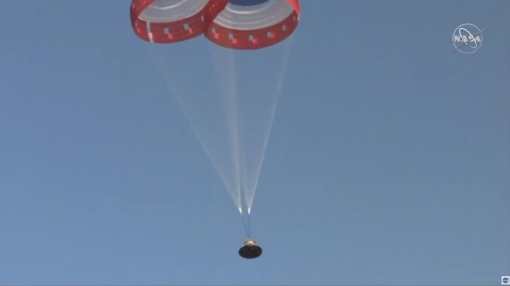 Boeing capsule test