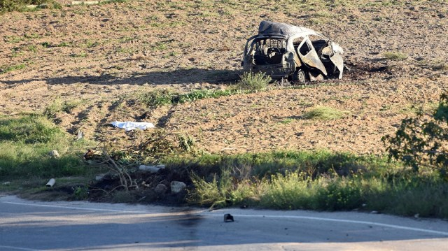 Malta Galizia car wreckage