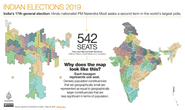 INTERACTIVE: Indian elections 2019 - Why does the map look this way?