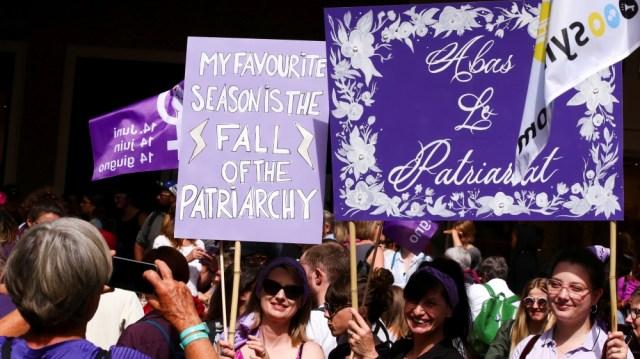 Women's strike in Lausanne
