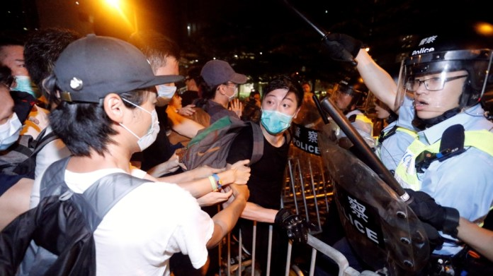 The protest calls on the authorities to withdraw an extradition proposal with China, in Hong Kong