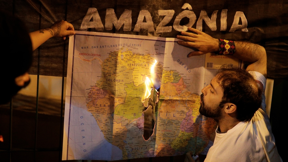 AMazon fire protests