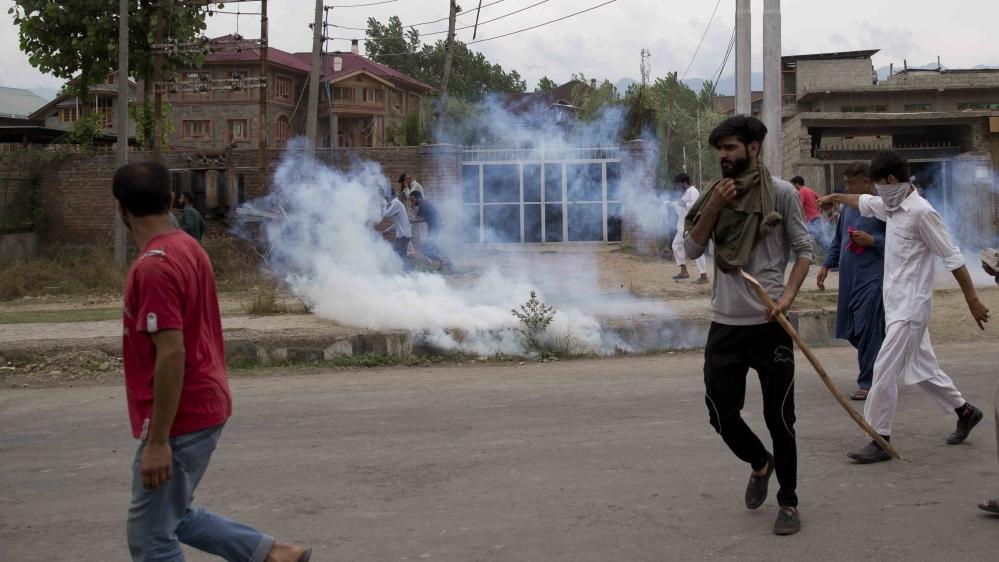 Kashmir Srinagar protest