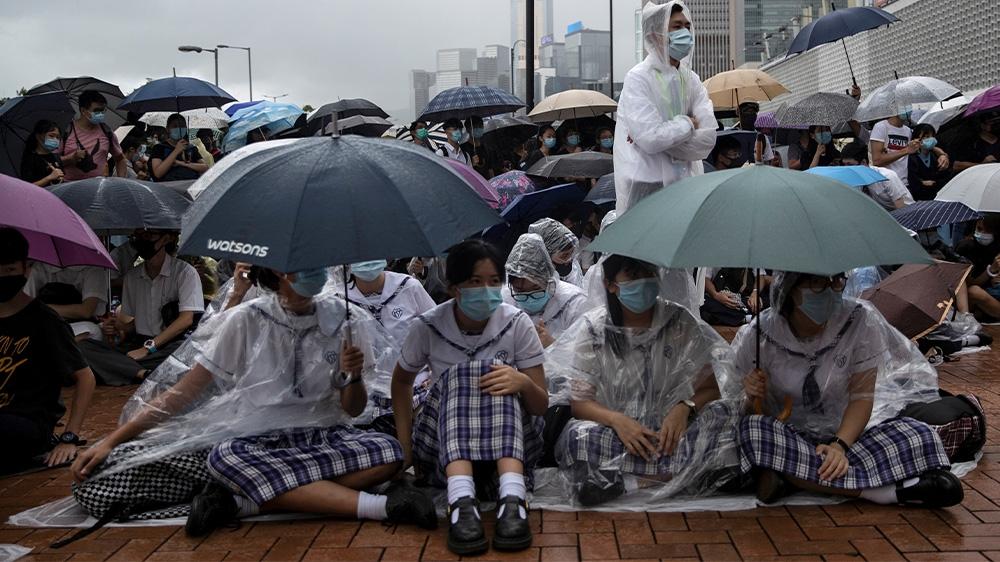 Hong Kong China schoolkid protesters