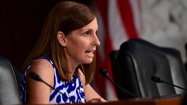 Cory Gardner Senator Martha McSally (R-AZ) questions David Marcus, head of Facebook's Calibra (digital wallet service), during testimony before a Senate Banking, Housing and Urban Affairs Committee hearing on