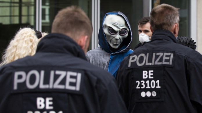Protest against Covid-19 restrictions in Germany