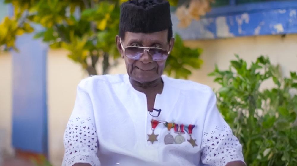 Private Joseph Hammond a 95 years old WWII veteran in Ghana [Screegrab/GUBA Foundation]