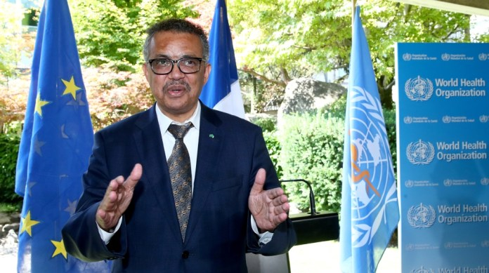 Tedros Adhanom Ghebreyesus, Director-general of the World Health Organization (WHO), attends a news conference in Geneva, Switzerland, June 25, 2020. REUTERS/Denis Balibouse