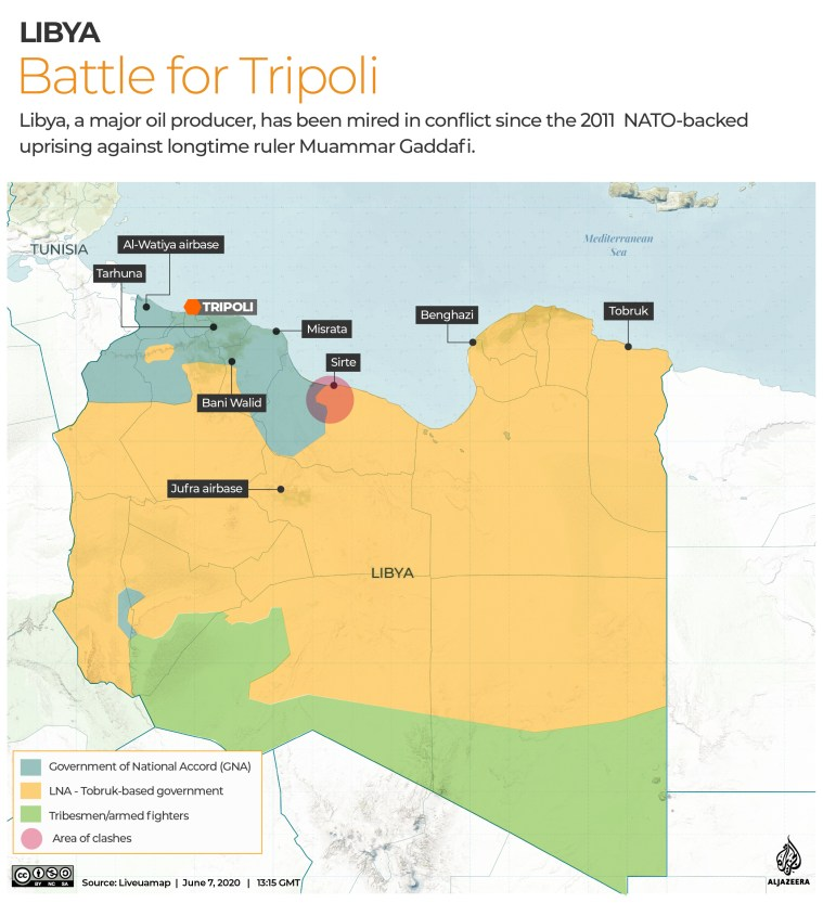 INTERACTIVE: Libya Control map - June 7, 2020 - Revised 2