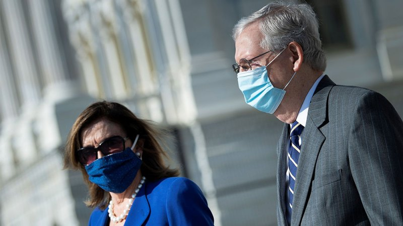 Pelosi and McConnell apart