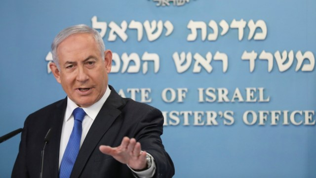 Israeli Prime Minister Benjamin Netanyahu announces a peace agreement to establish diplomatic ties, between Israel and the United Arab Emirates