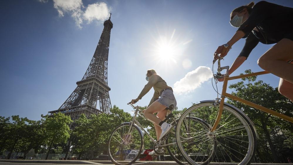 پیرس بائیسکل کلچر بطور کورونا پاور کموٹرز پیڈل پر