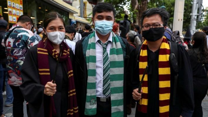Harry Potter-themed pro-democracy protest in Bangkok
