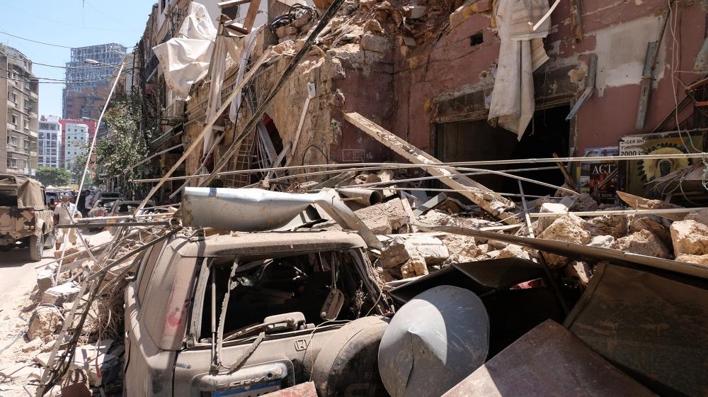 بیروت دھماکے کے بعد [Timour Azhari/Al Jazeera]