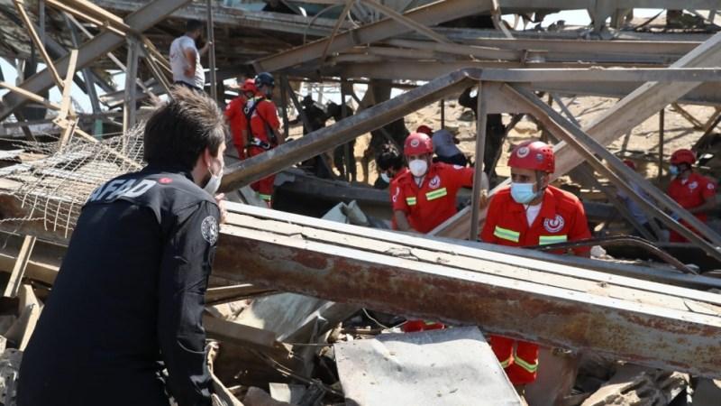 اے ایف اے ڈی نے بیروت کے بندرگاہ پر تلاش اور امدادی کاموں کا آغاز کیا