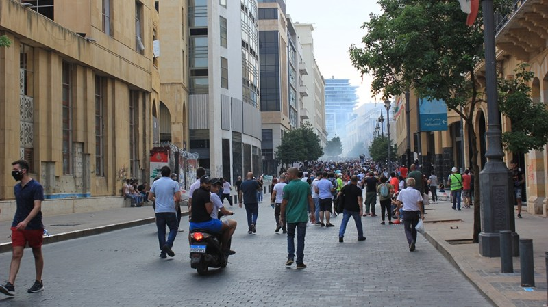 Beirut protests [Arwa Ibrahim/Al Jazeera]