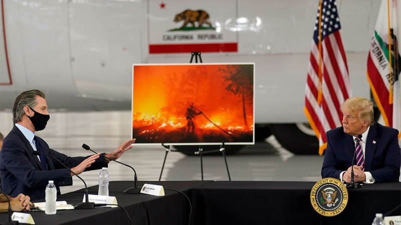 Newsom confronts Trump on California fires
