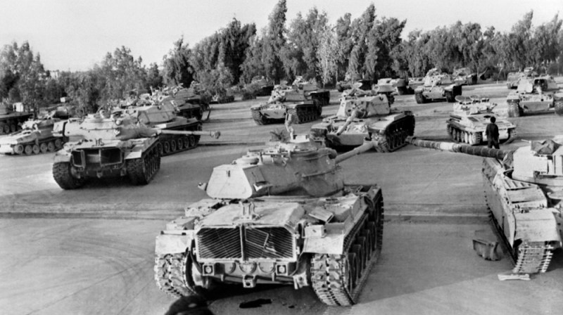 Picture released on October 1980 of Iranian artillery, tanks, arms and munitions captured by the Iraqi army during Iran / Iraq war. AFP