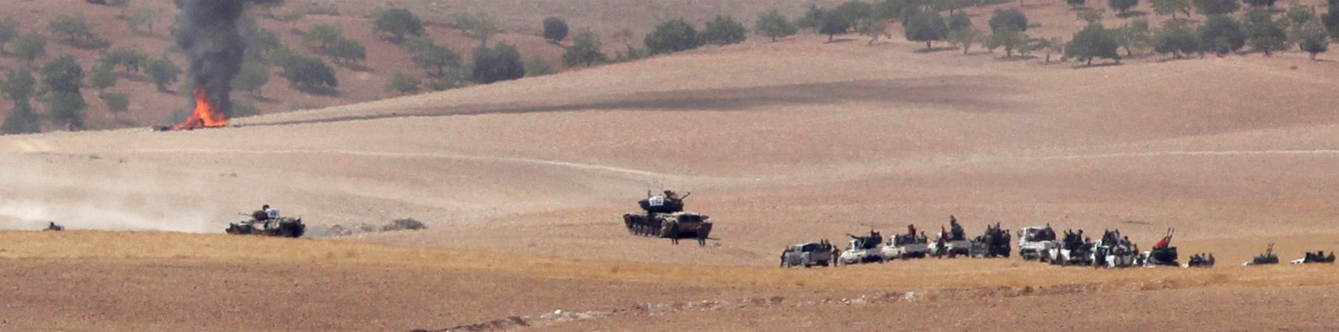 Jarablus, a strategic Syrian town on the border with Turkey, has been controlled by ISIL fighters for two years [EPA]