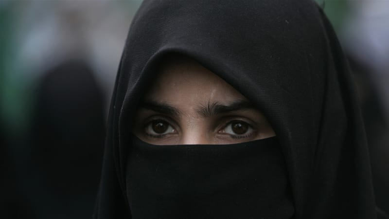 Quebec's face veil ban is the fist of its kind in North America [File: Shakil Adil/AP Photo]