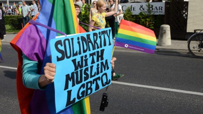 Image result for gays against muslim ban