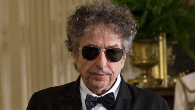Bob Dylan in the East Room of the White House [EPA]