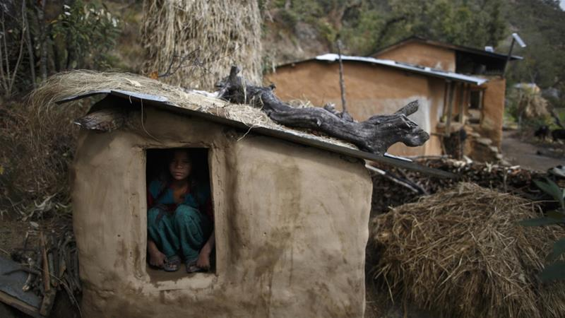 The chhaupadi tradition is said to put women at risk of attack by wild animals, disease, and rape [File: Navesh Chitrakar/Reuters]