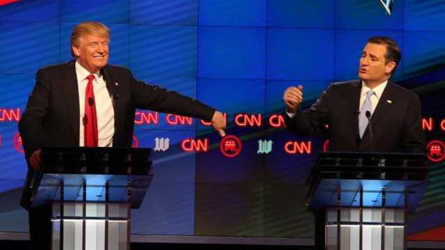 Republican presidential candidates Donald Trump and Ted Cruz [AP]