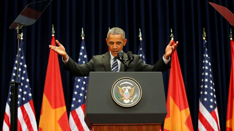 President Barack Obama pressed Vietnam to allow greater freedoms for its citizens  [Carlos Barria/Reuters]