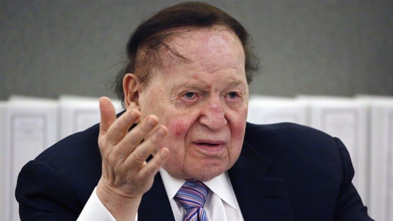 Sheldon Adelson (AP photo via Al Jazeera)