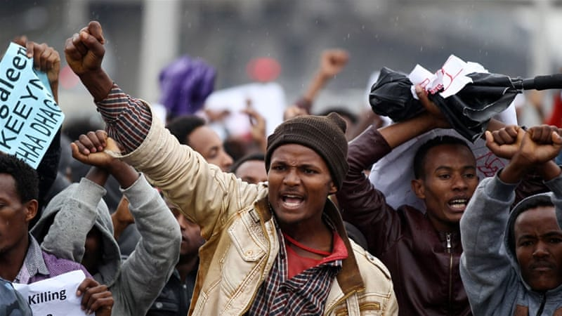 Saturday's rally was the first rally to be held in Addis Ababa after a series of Oromo and Amhara protests elsewhere [Reuters]