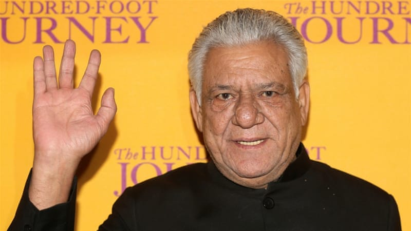 Tributes pour in from the world of Bollywood as actors and directors awoke to the news of Om Puri's death [Paul Hackett/Reuters]
