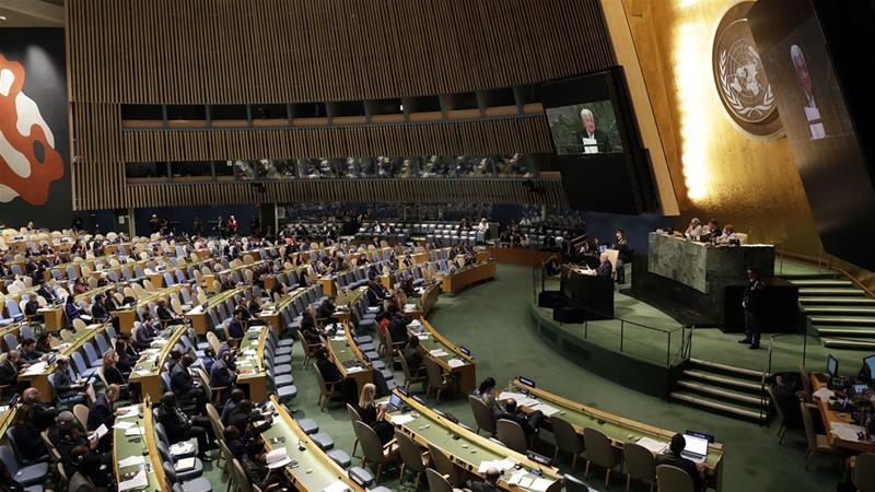 The 193-member UNGA is expected to vote on the Jerusalem resolution on Thursday [Jason Szenes/EPA]