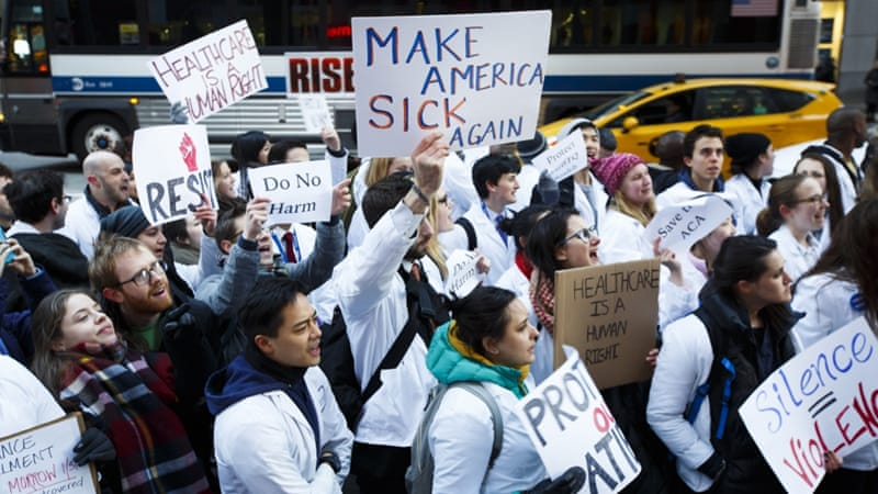 Image result for photos of protests against repeal of ACA