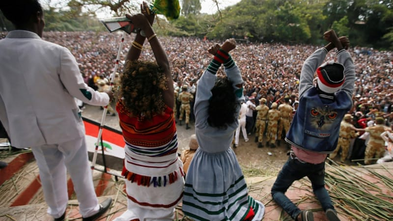 The country's ruling coalition is controlled primarily by the Tigray ethnic group, who accounts for only 6 percent of the population [Tiksa Negeri/Reuters]