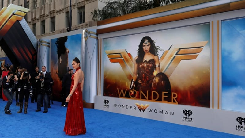 Cast member Gal Gadot poses at the premiere of 'Wonder Woman' in Los Angeles on May 25 [Reuters/Mario Anzuoni]