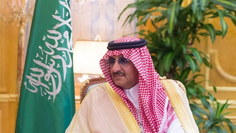 Mohammed bin Nayef was Saudi Arabia's crown prince before his removal in June [File: Reuters]