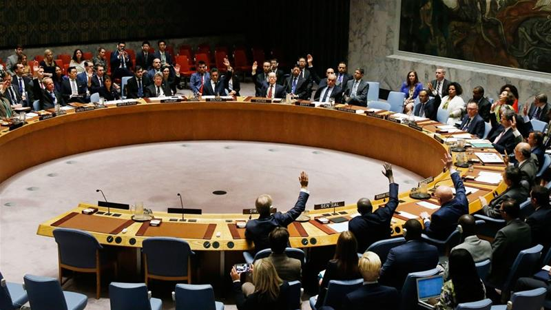 The United Nations Security Council votes to pass a new sanctions resolution against North Korea [Jason DeCrow/AP Images]