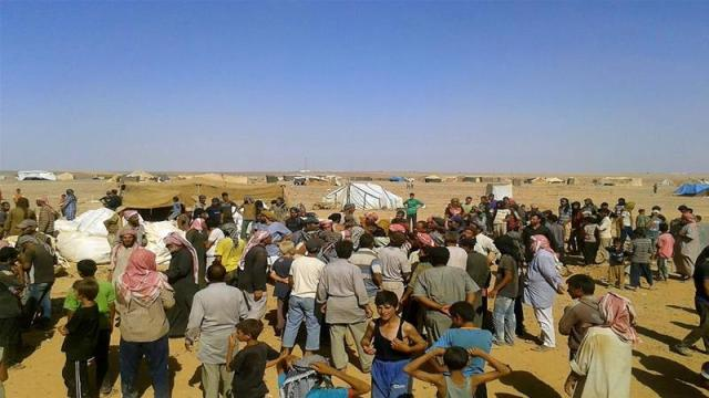 The makeshift Rukban camp is home to at least 55,000 refugees [File: AP]
