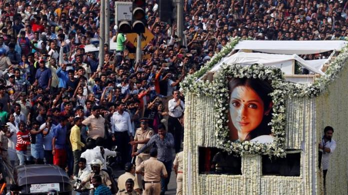 Image result for sridevi funeral