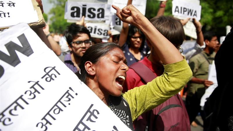 Activists took to New Delhi's streets to protest Asifa's rape and murder [Cathal McNaughton/Reuters]